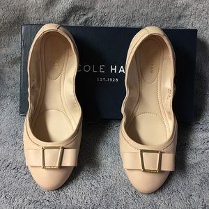 New Cole Haan Emory Bow Leather Ballet Flat
